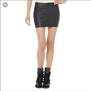 NWT Monika Chiang runway Napa leather skirt Mc